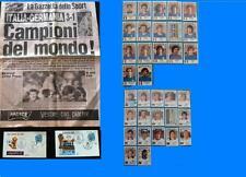 GAZZETTA DELLO SPORT 1982 2 Buste Bolli Italia Campione del Mondo 82 + 34 PANINI