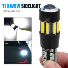 Error gratis501 SMD CREE LED luz lateral blanco bombillas xenón T10 W5W 194