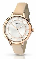Sekonda Ladies Editions Nude Coloured Watch With Rose Gold Case 2137