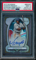 PSA 9/10 WANDER FRANCO AUTO 2019 Bowman Chrome Sterling Autograph #/99 RC MINT