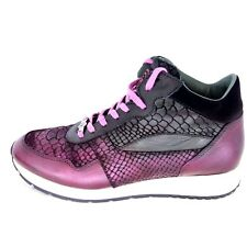 Gino B Ladies Shoes Sneaker Sports Size 37 41 Animal Pattern Leather Np 259 New