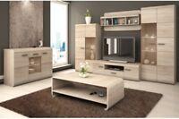 Living room furniture set cabinet cupboard shelf Tv unit stand display sonoma
