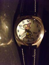 Womens Disney Vintage Dopey Watch (7 Dwarfs)-(Snow White)(Silvertone)Retired-New