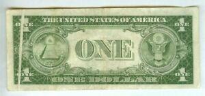 Super Rare Vintage 1935 USA Silver Certificate Dollar Note w Fold Mint ERROR