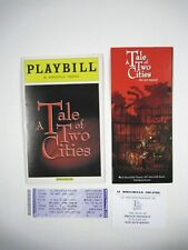 Tale of Two Cities Playbill July 2008 Hirschfield Theatre Ticket Flyer Barbour