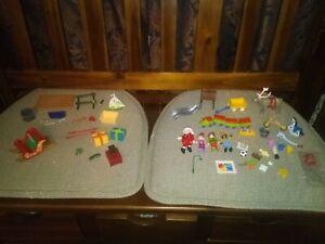 Playmobil Christmas Toys Santa Elves Reindeer Presents Lot