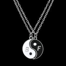 Two part Yin Yang BFF Pendant Necklaces ~ UK SELLER ~