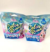 SET of 2 Barbie Color Reveal Mermaid Pet Series  -  2 New Factory Sealed