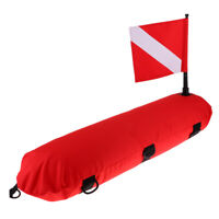 Inflatable Scuba Diving Spearfishing Signal Float Buoy + Dive Flag Banner