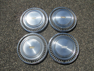 Factory original 1974 Chevy Caprice 15 inch hubcaps wheel covers