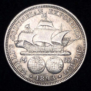 1893 Columbian Expo U.S. Commemorative Silver Half Dollar