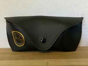 Ray-Ban Luxottica Sunglass Case, Black Soft Eye Glass Case Only with Red Liner