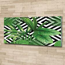 Glas-Bild Wandbilder Druck auf Glas 125x50 Blumen & Pflanzen Tropische Blätter