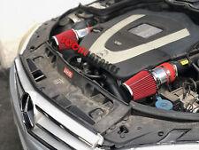 RED Air intake kit & filter for 2008-2012 Mercedes Benz C300 C350 3.0L 3.5L V6