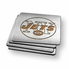New York Jets NFL Stainless Steel Sportula Boasters - Set of 4 Coasters