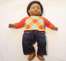 "An American Girl 15"" doll Black Hair Brown Eyes Colored Male"