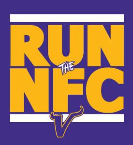 Minnesota Vikings RUN the NFC shirt NFL Playoffs Cousins Thielen Cook t-shirt