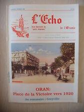Algérie, Oran: Revue L'Echo de l'Oranie, N° 218: 01-02/1992, BE