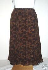 NWT Ralph Lauren Brown Cotton Artsy Flounced Skirt 14 P