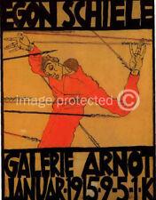 Self-Portrait as St Sebastian Egon Schiele Art Poster