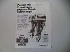 advertising Pubblicità 1983 EVINRUDE 4.5 - 25 MOTORE FUORIBORDO