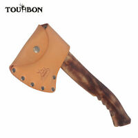 Tourbon Handcrafted Axe Sheath Holder Leather Hatchet Blade Cover with Belt Loop
