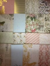16 SHEET TASTER PACK FIRST EDITION BOTANICAL NOTES 8 x 8 CARD MAKING CRAFT PAPER