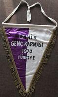Fußball Football Futbol WIMPEL TÜRKEI TURKEY TÜRKIYE  Genç Karması IZMIR 1970