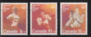 Canada 1975 B7 to B9 Olympic Combat Sports - MNH