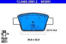 Bremsbelagsatz, Scheibenbremse für Bremsanlage Hinterachse ATE 13.0460-3991.2