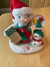 Hallmark Jingle Pals Time For Cookies 2015 Christmas Plush Snowman TESTED WORKS