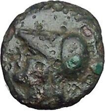 Elaia in Asia Minor 4th-3rdCentBC Ancient Greek Coin Athena Corn-grain  i49051
