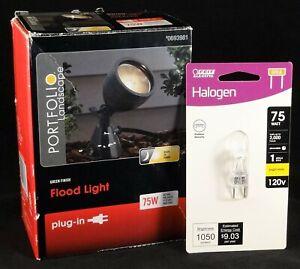 Portfolio 75-Watt Flood Light Plug-in Halogen Landscape Light, NOB, Tested.