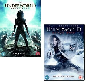 UNDERWORLD 1-4+5 2004-2016 COMPLETE COLLECTION Kate Beckinsale NEW R2 DVD sp