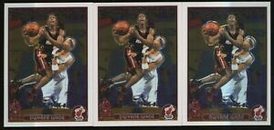 Investor Lot Of (3) 2003-04 Topps Chrome #115 Dwyane Wade Heat RC Rookie