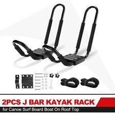 Kayak Rack Set 2Pcs J Bar Rack for Canoe Surf Board Boat Roof Top Mount Crossbar