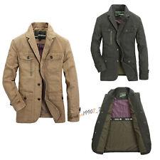 2019 Men's Outdoor Autumn Cotton Blend Coat Jacket Outwear Plus M-5XL Oversize
