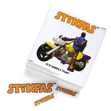 Original Stikfas Deluxe Action Figure Pack Alpha Male AFK43D Biker MotoBike