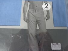 MENS PACK OF TWO PYJAMAS BOTTOMS ONLY SIZE 2XL WAIST 43-46 RRP £25