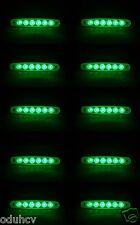 10 piezas 12V 6 LED Intermitente Lateral Verde Luces para Volvo Iveco Man Daf