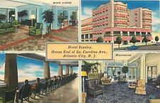 Atlantic City~Hotel Stanley~Lobby~Mezzanine Interior~Rocking Chair Veranda~1940s