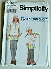 Simplicity Sewing Pattern 5946 Daisy Kingdom Girls Misses Fleece Coat and Hat