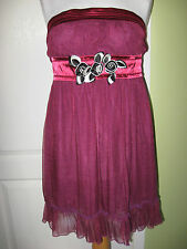 LADIES BEAUTY EMILY SIZE 10 PURPLE STRAPLESS MINI DRESS