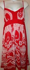 WOMENS FOREVER RED WHITE DRESS Sz M