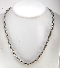GUESS DESIGNER SILVER TONE SNAKE CHAIN NECKLACE NWT