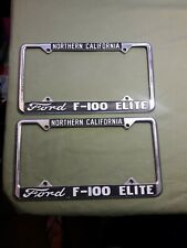 Ford F-100 Elite Northern California License Plate Frames