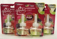 6 REFILLS Glade Plugins BERRY POP Strawberry Scented Oil Refills Home Fragrance