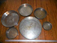6 Tier Circle Round Pan Set Wedding Anniversary Birthday Baking Tins Cake Pans