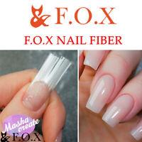 F.O.X NAIL FIBER for Nail Repair Building Modeling / Base Top Gel Polish FOX