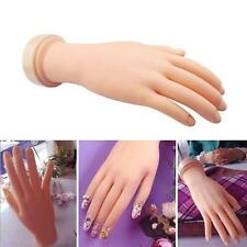 1pc Practice Hand Model Flexible Soft Mannequin Hand for Nail Art Training DT
